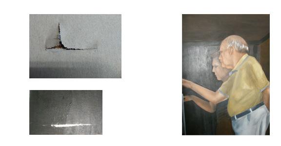 Moniquescultura pintura y dorado - Acrilico sobre lienzo ...